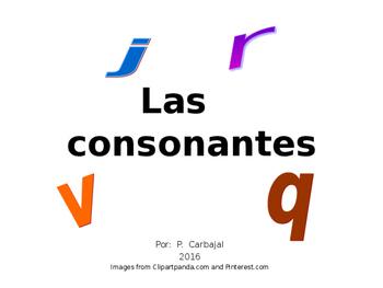 Las consonantes j, r, v, y q