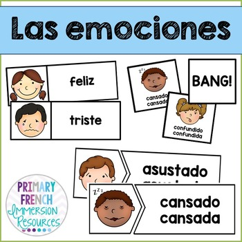 Las emociones - Spanish emotions - flashcards and games