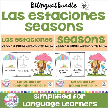 Las estaciones ~ Seasons Readers {Bilingual bundle}