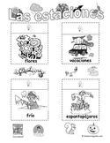 Las estaciones (Seasons in Spanish) with bonus Halloween pages