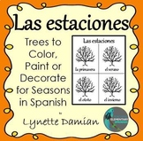 Las estaciones -- Trees to Color, Paint or Decorate for Seasons in Spanish