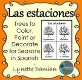 Las estaciones -- Trees to Color, Paint or Decorate for Se