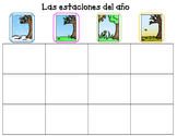 Las estaciones del ano Bilingual Center or File Folder Game