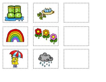 Las estaciones del ano Bilingual Center or File Folder Game