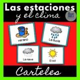 Las estaciones y el clima - Carteles - The Seasons and Wea