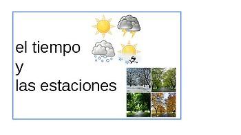 Las estaciones y el tiempo Vocabulary Slides (Realidades 1: para empezar)