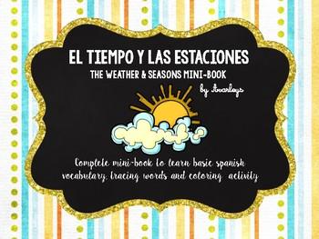 Las estaciones y el tiempo minibook - Seasons and weather minibook