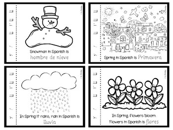 Las estaciones y el tiempo minibook - Seasons and weather minibook