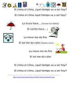 Las expresiones del clima/Weather expressions