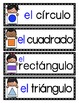Las figuras: A Writing Center and Word Wall Set in Spanish