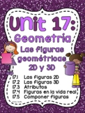 Las figuras geométricas 2D y 3D (Massive Spanish Shapes Un