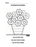 Spanish Spring Flowers Worksheet / Las flores de la primavera
