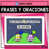 Las frases y las oraciones -Boom Cards in Spanish/Distance Learning