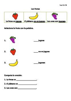 Las frutas - A 22 Page Practice Booklet