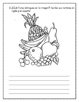 Las Frutas Fruits Spanish Worksheet By Fragile Cloud Tpt