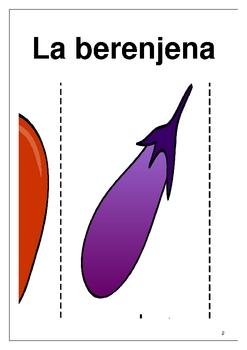 Las frutas y las verduras Fruits and vegetable flashcards Spanish 1