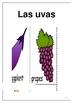 Las frutas y las verduras Fruits and vegetable flashcards