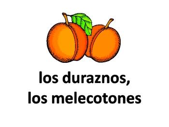 Las frutas y los vegetales - Fruits and Vegetables (Spanish)