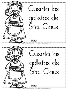 Las galletas de Sra. Claus - Spanish Counting Book