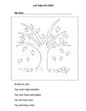 Spanish Fall Leaves Worksheet / Las hojas del otoño