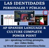 Las identidades Personales y Publicas AP Theme COMPLETE PowerPoint