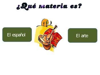 Las materias/ School subjects in Spanish
