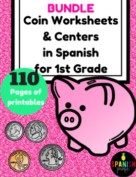 BUNDLE Las monedas (Coins in Spanish for First Grade) (Dinero)
