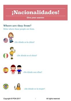 Nationalities in Spanish / Las nacionalidades en español