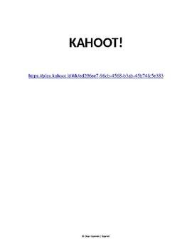 Las oraciones interrogativas. Includes Kahoot! Questions in Spanish. Accents 5Ws