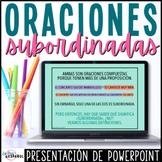 Las oraciones subordinadas | Spanish Complex Sentences Powerpoint