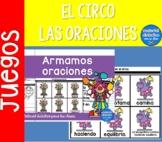 Las oraciones y el Circo |Pack de actividades |Spanish Resources