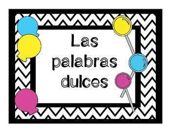 Las palabras dulces-Alphabet letters for your Spanish Word Wall