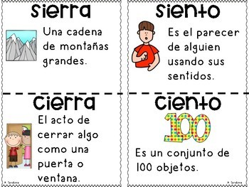 Las palabras homófonas Homophones in Spanish Benchmark Adelante