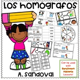 Los homógrafos Homographs in Spanish- Can be used w/ Benchmark Adelante
