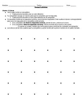 Las palabras interrogativas ( Question words / Interrogatives) Game- Dots