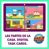 Las partes de la casa/House parts. Boom Cards™ Distance Learning