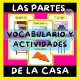 Las partes de la casa Vocabulario y Actividades - The parts of the house