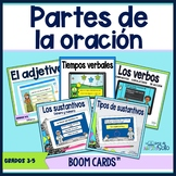 Las partes de la oración Bundle - Boom Cards™ Distance Learning
