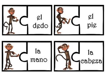 Las partes del cuerpo Body parts Spanish