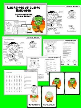 Las partes del cuerpo- Halloween activities in Spanish