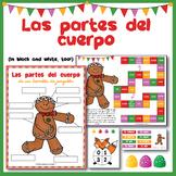Las partes del cuerpo - Spanish body parts with a gingerbread man