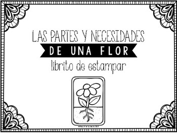 Las partes y necesidades de una flor (Parts and Needs of a Flower in Spanish)