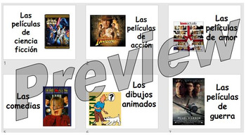 Las películas - learning the types of films, and how to compare these
