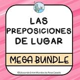 Las preposiciones de lugar Spanish prepositions of place BUNDLE