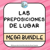 Las preposiciones de lugar Spanish prepositions of place BUNDLE