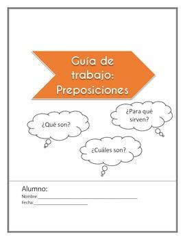 las preposiciones prepositions spanish worksheet by fragile cloud. Black Bedroom Furniture Sets. Home Design Ideas