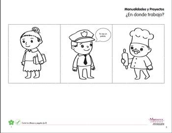 Las profesiones - Profession printables in Spanish