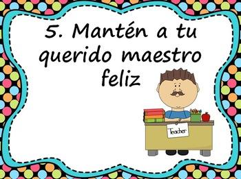 Las reglas de la clase / Whole Brain Teaching Rules in Spanish