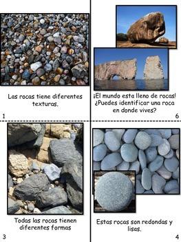 Las rocas/ Types of rocks bilingual mini book