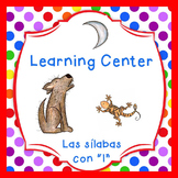 "Las silabas con ""L""(la,le,li) Spanish reading center"